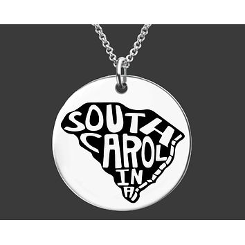 South Carolina State Necklace | Personalized State Necklace