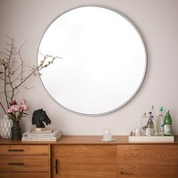 Metal Framed Oversized Round Mirror