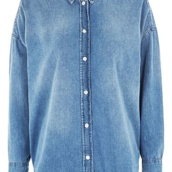 MOTO Oversized Denim Shirt - New In