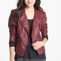 Jessica Simpson 'Trey' Faux Leather Moto Jacket | Nordstrom