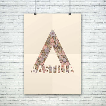 Bastille Logo Flowers, (Instant Download) , 300 dpi, Awesome Design Printing
