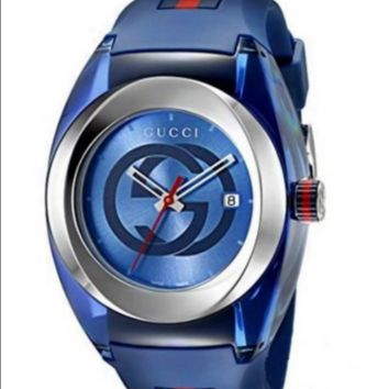 GUCCI fashion trendy men and women watch F-PS-XSDZBSH Blue