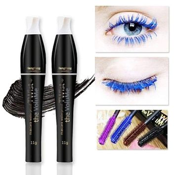 HOT Rushed Colorful Mascara Color Volume Lengthening Curling Cosplay Eyelashes Makeup Colossal 3d Fiber Waterproof Cosmetic Macchar Cosplay Catalogue
