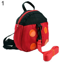 2015 Brand New Ladybug Baby Kid Toddler Keeper Walking Safety Harness Backpack Leash Strap Bag  76XU