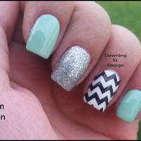 Chevrons Nail Decal Zigzag Design Full Nail Wrap