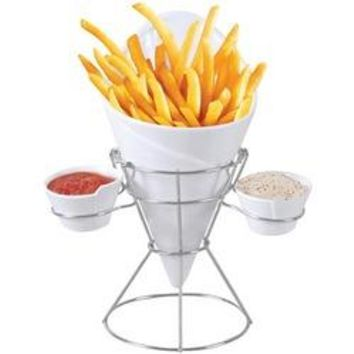 Starfrit Gourmet French Fry & Dip Serving Dish (pack of 1 Ea)