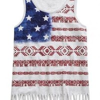 Fringe Flag Tank | Girls {category} {parent_category} | Shop Justice