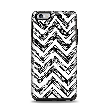 The Sketch Black Chevron Apple iPhone 6 Plus Otterbox Symmetry Case Skin Set