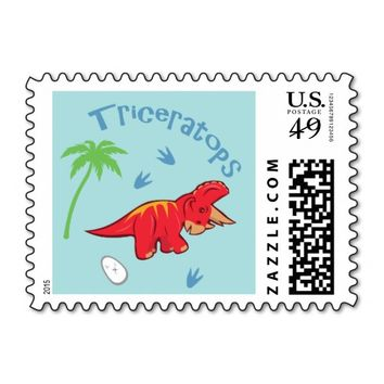 Cute Triceratops Postage Stamp