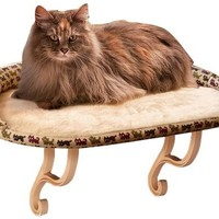 K&H Kitty Sill Deluxe Kitty Print Cat Bed, 14-Inch by 24-Inch, Tan Kitty Print:Amazon:Pet Supplies