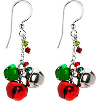 Handcrafted Holiday Jingle Bell Earrings MADE WITH SWAROVSKI ELEMENTS | Body Candy Body Jewelry