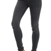 Cheap Monday Womens, Second Skin Jeans - Rip Black - Cheap Monday - MOOSE Limited