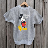 Vintage Walt Disney Palm Beach Florida Mickey Mouse Velva Sheen S/S Sweatshirt - SZ M