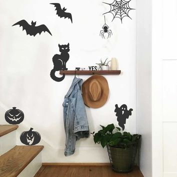 Halloween Assorted Decals | Pumpkin Decal | Spooky Wall Art