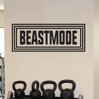 Beastmode Decal - Beastmode Wall Decal *Custom Size & Color* Fitness Motivation Gym Decals - Wall Decor - Beastmode Wall Decal
