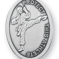 Sterling Silver St. Sebastian Martial Arts Athlete Medal