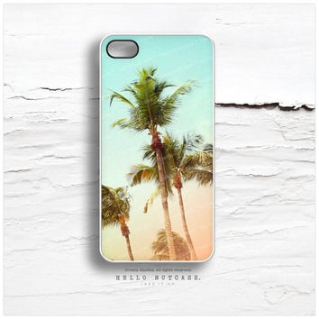 iPhone 5C Case Palm Tree, iPhone 5s Case Teal Sky, iPhone 5 Case, Palm Tree iPhone 4s Case, LA iPhone Case, Sunset TOUGH iPhone Cover N2