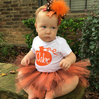 Thanksgiving outfit, Baby girl thanksgiving outfit, Fall outfit, Baby first Thanksgiving, Baby Thanksgiving outfit, Baby Girl Fall tutu