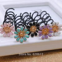 2 piece Hotsale Alloy Daisy Flower Barrette Spin Screw Hairpin Hair Clip Twist for Wedding Hair Accessories