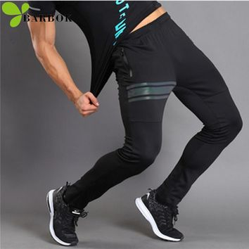 BARBOK Tight Running Pants Sport Leggings Yoga Fitness Clothing Compression Sportswear Sweat Jogging Male Workout Gym Pants Men