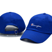 Champion Women Men Embroidery Baseball Cap Hat Sports Sun Hat