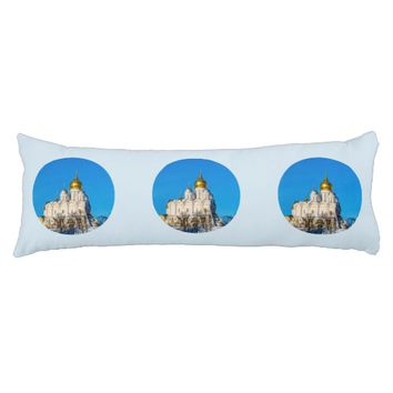 Moscow Kremlin cathedrals Body Pillow