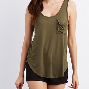Scoop Neck Pocket Tank Top