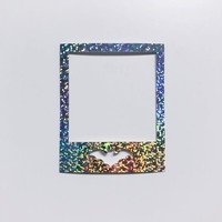 Holo Glitter Photo Frame Diecut for Planner Dashboards & Decorations