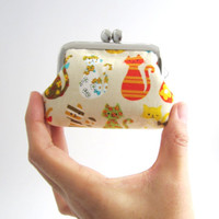Frame Coin Purse- mini  jewelry case with ring pillow- kawaii cats