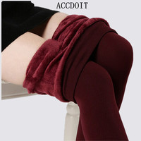 S-XL 8 Colors Women's Warm Leggings Fashion High Elasticity And Good Quality Leggings Casual Thick Velvet Pants