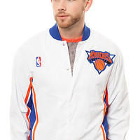 The New York Knicks Warm Up Jacket in White