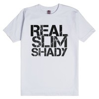 Real Slim Shady-Unisex White T-Shirt