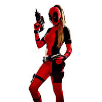 Women's Deadpool Cosplay Costume