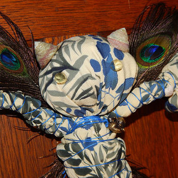Tangled Meadow Faerie Poppet - Voodoo Doll - Adornment Poppet - Spell Fetch - Folk Art Doll - Magickal Curio - Mixed Media Art -Free Ship