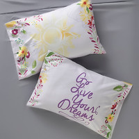 Disney Tangled Floral Pillowcase Set
