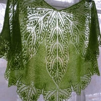 wool shawl ,knitted shawl,elegant lace shawl,green shawl,shawl for fall.winter.spring,Latvian wool shawl,handmade shawl