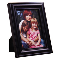 Decorative Black Wood Curved Bevel Picture Photo Frame