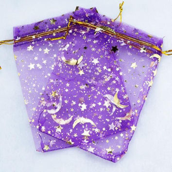 Moon and Star organza bags- Twinkle Shimmering Star Collection
