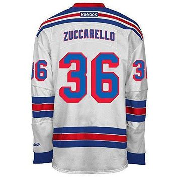Mats Zuccarello New York Rangers Nhl Reebok Men's White 2016 17 Premier Jersey