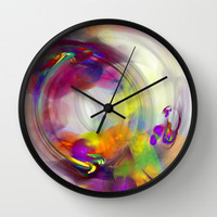 bubbles 1 Wall Clock by Haroulita