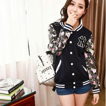 Outerwear Sportswear Sweater Coat Printed Sweatshirt Loose Outwear Outwear Baseball Sweater Autumn Women Sweatshirt Women Clothes Women Cardigan Jacket Coat Sport Suit loose  sweater Jacket Coat Plus Size Pullover = 1920100356