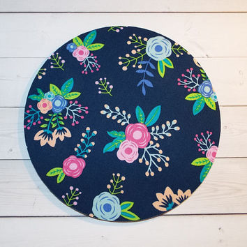 Floral Mouse Pad flowers mousepad / Mat - round or rectangle -  Computer Accessories Coworker Gifts Office
