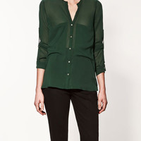 BLOUSE WITH FRONT POCKETS - Collection - Shirts - Collection - Woman - ZARA United States
