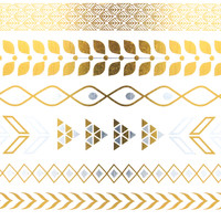 Flash Metallic Tattoo 9 | Gold Tattoos