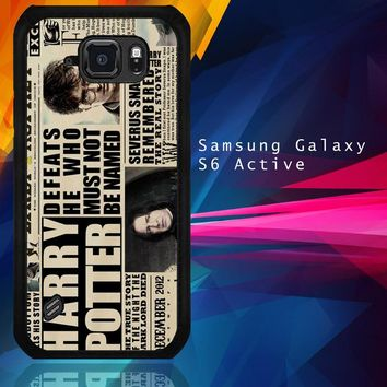 December2012 Harry Potter Daily Prophet F0163 Samsung Galaxy S6 Active  Case