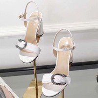 Gucci Women Fashion Simple Casual High Heeled Sandals Shoes