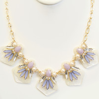 Periwinkle Stone Icicle Necklace Set