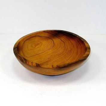 HAND-CARVED OLIVE WOOD BOWL 7.5-INCH  - JEDANDO HANDICRAFTS