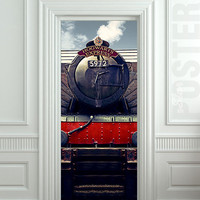 Door STICKER hogwarts express train Harry Potter mural decole film self-adhesive poster 30x79inch(77x200 cm)