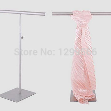 Multifunction simple stainless steel Silk Scarf display rack Wraps Shawl Necktie Tie purse handbag display stand holder rack J26